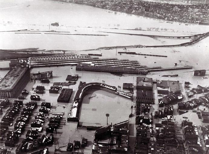 Flood at Crosley Field