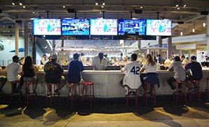 Outfield Corner Bars at Dodger Stadium