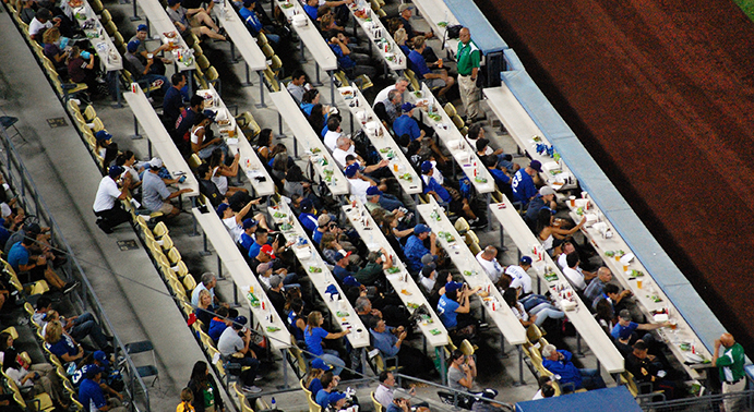 Field level seats at Dodger Stadium