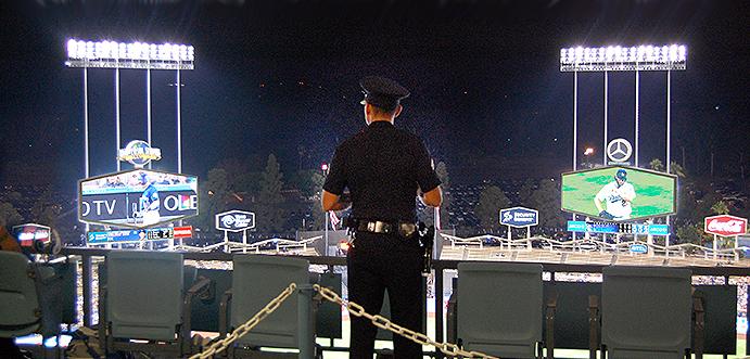 Police at Dodger Stadium