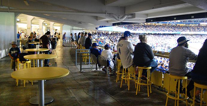 Wider Concourse at Dodger Stadium