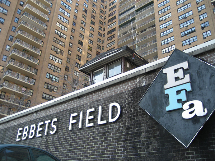 The site of Ebbets Field today