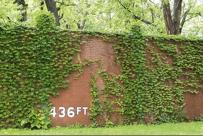 Forbes Field Wall Today