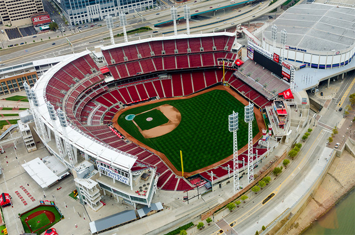 Great American Ball Park Aerial