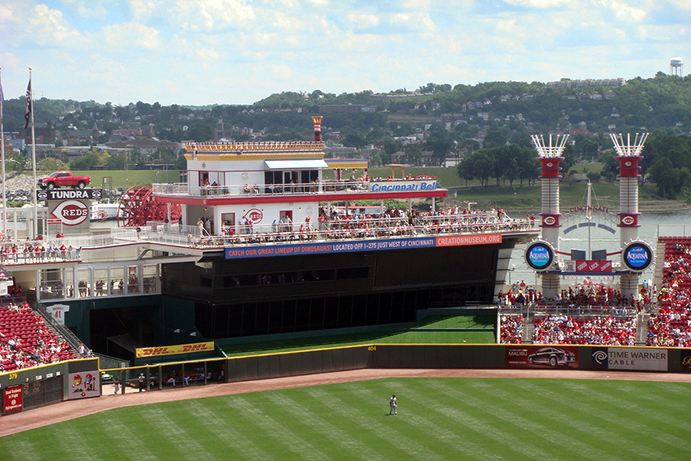 Steamboat Structure at Great American Ball Park