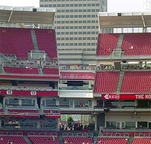 View from the Gap at Great American Ball Park