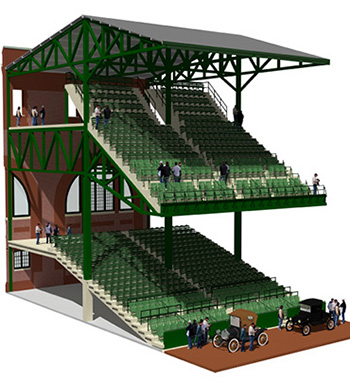 League Park Spectator Seating Cutaway