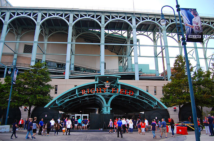 Minute Maid Park, right field gate