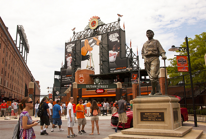 Center Field entrance at Oriole Park at Camden Yards