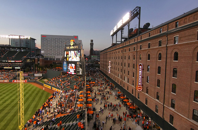Eutaw Street behind Oriole Park at Camden Yards