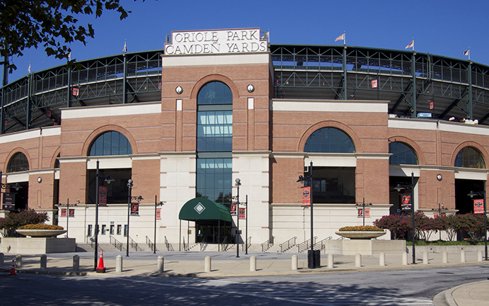Home Plate entrance to Oriole Park at Camden Yards