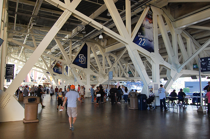 Third base side concourse, Petco Park