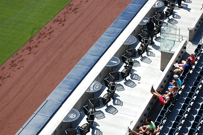Petco Park lounge seats behind right field fence