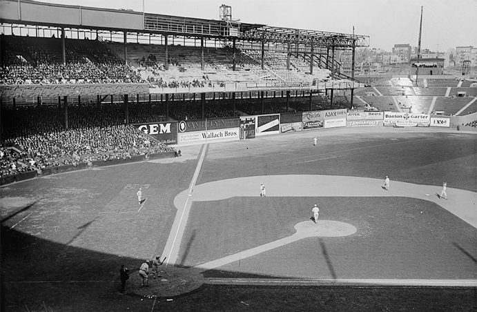 Polo Grounds being expanded, 1923
