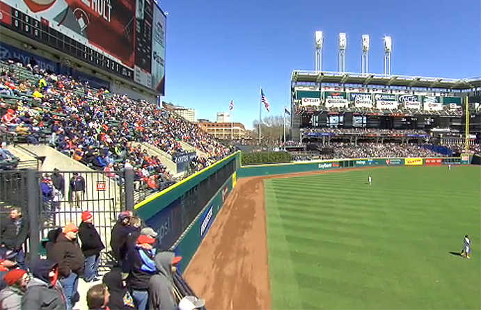 Progressive Field Left Field Wall
