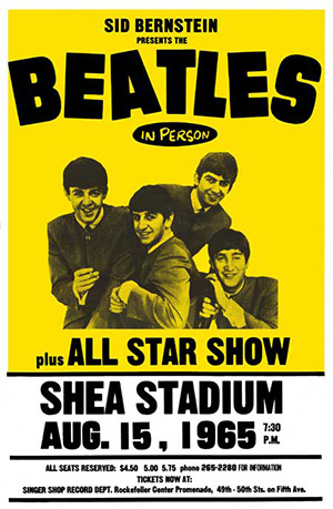 Beatles poster for Shea Stadium Show