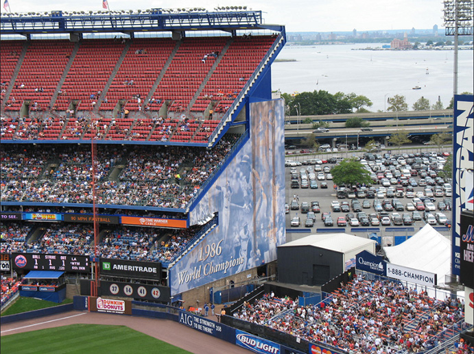 Shea Stadium Left Field corner