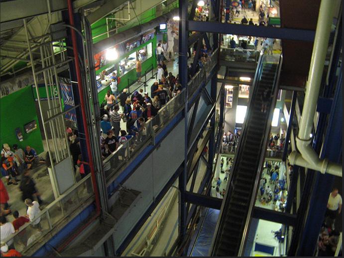 Concourse and escalators, Shea Stadium