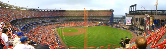 Panorama inside Shea Stadium