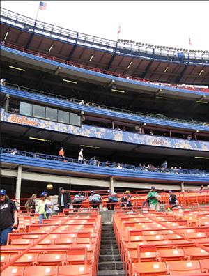 Shea Stadium levels