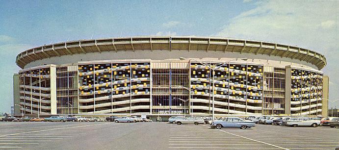 Shea Stadium Exterior 1960s