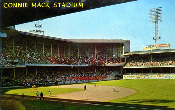 Connie Mack Stadium Postcard 1960s