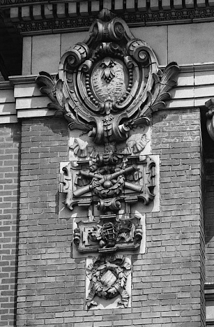 Relief detail on Shibe Park's Exterior