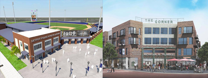 Renderings for post-Tiger Stadium site