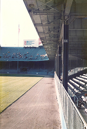 Second deck overhang at Tiger Stadium
