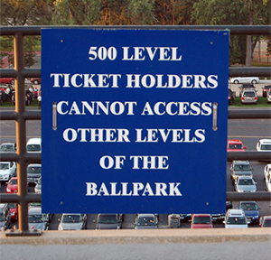 500 Level Sign at Guaranteed Rate Field