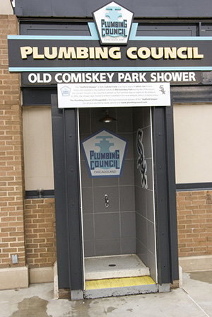 Comiskey Shower at Guaranteed Rate Field