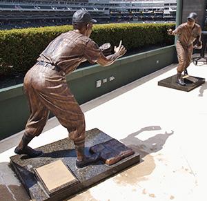 Statues at Guaranteed Rate Field