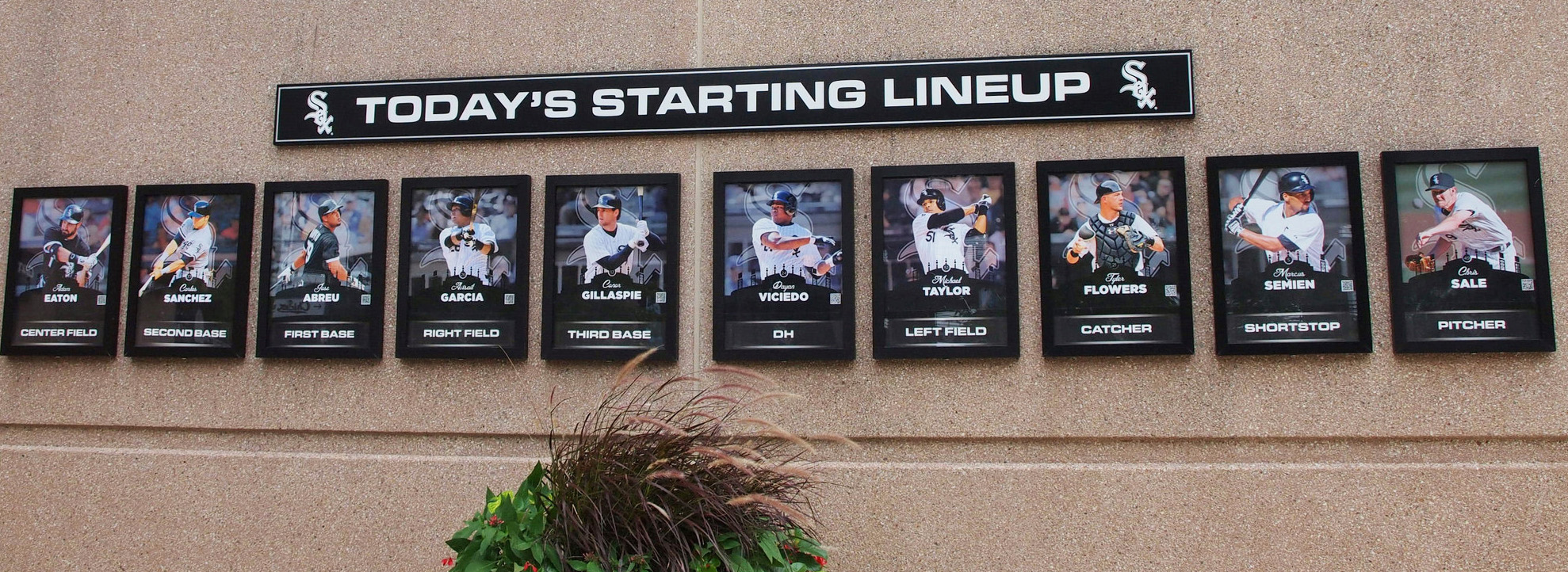 Today's lineup posted at Guaranteed Rate Field