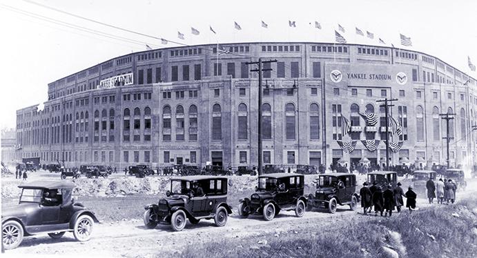 Old Yankee Stadium Exterior, 1923