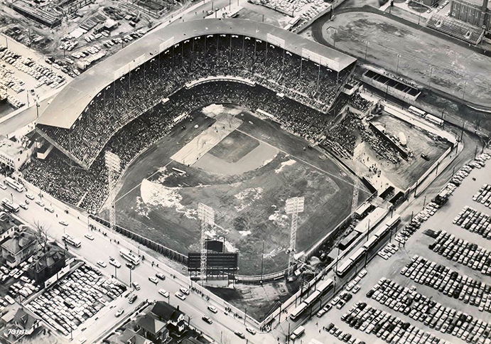Aerial of Municipal Stadium in Kansas City