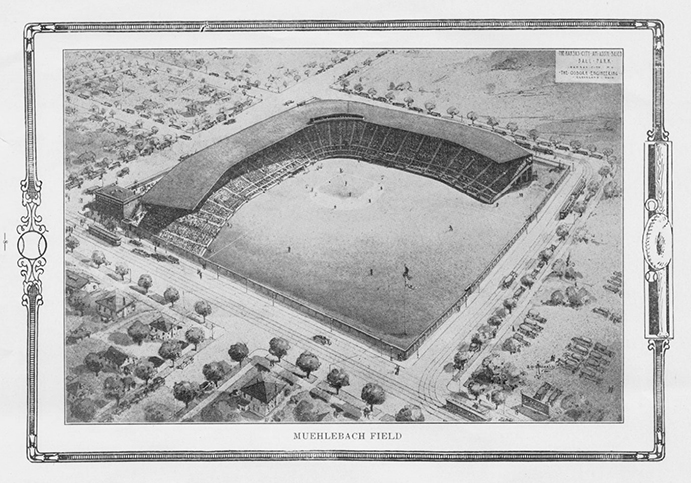 Illustration of Muehlebach Field, 1923