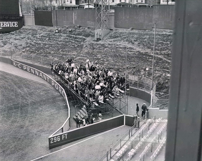 Pennant Porch at Kansas City's Municipal Stadium, 1964