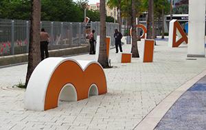 Orange Bowl letters at loanDepot park